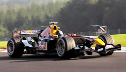 Christian Klien in the RB1 at the 2005 Belgian GP