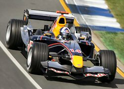 David Coulthard in the RB1 at the 2005 Australian GP