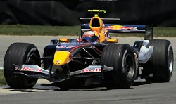 Scott Speed in practice at the 2005 US GP