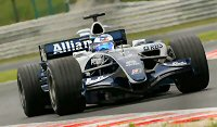 Nico Rosberg at the 2006 Hungarian GP in the FW28