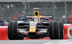 Mark Webber in the RB4 during the 2008 Canadian GP