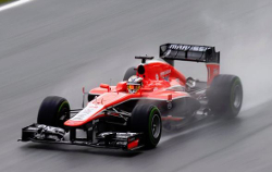 Jules Bianchi in the MR02 at the 2013 Malaysian GP