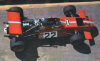 Piers Courage in the de Tomaso Williams at the 1970 South African GP