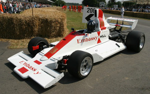 Damon Hill driving the Hill GH2 at Goodwood 2005