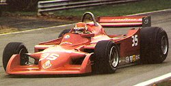 Giacomelli in the 177 at its Belgian GP debut