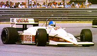 The A10-Megatron at Imola 1987 with Derek Warwick at the wheel