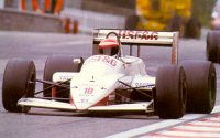 Eddie Cheever in the A10B at the 1988 Belgian GP