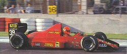 Bruno Giacomelli at Imola attempting to qualify for the 1990 San Marino GP