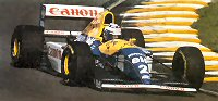 1993 Brazilian GP: Alain Prost in the FW15