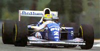 Ayrton Senna at the fateful 1994 San Marino GP