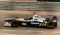 Damon Hill at the 1996 Argentinian GP in the FW18