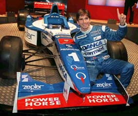 Damon Hill at the launch of the 1997 Arrows A18