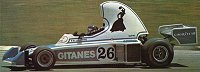 Jacques Laffite at the wheel of the 1976 JS5